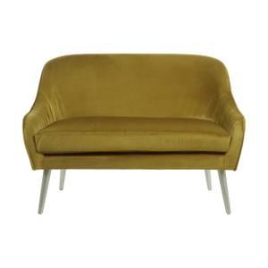 Louxor Velvet Sofa - Mustard
