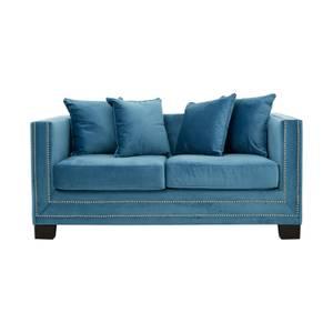 Sofia 2 Seater Velvet Sofa - Cyan Blue