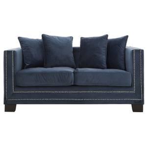 Sofia 2 Seater Velvet Sofa - Midnight