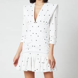 Philosophy di Lorenzo Serafini Women's Polka Dot Ruffle Detail Mini Dress - White