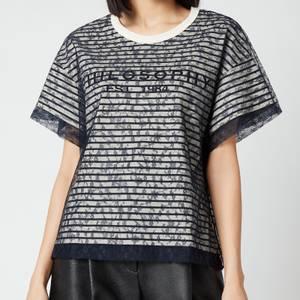 Philosophy di Lorenzo Serafini Women's Logo Lace T-Shirt - Black