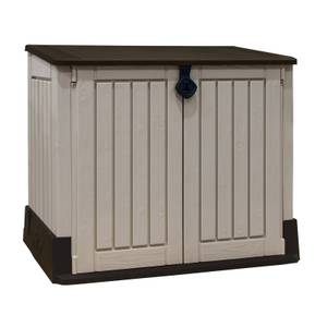 Keter Store It Out Midi Outdoor Plastic Garden Storage Shed - Beige/Brown