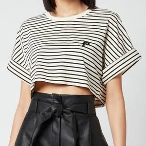 Philosophy di Lorenzo Serafini Women's Cropped Stripe T-Shirt - White