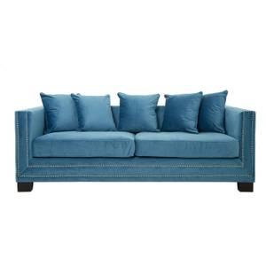 Sofia 3 Seater Velvet Sofa - Cyan Blue