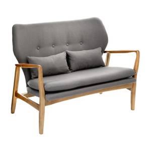 Stockholm Sofa with Birchwood Frame - Grey