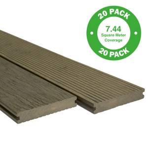 Heritage Composite Decking 20 Pack Oak - 7.44 m2