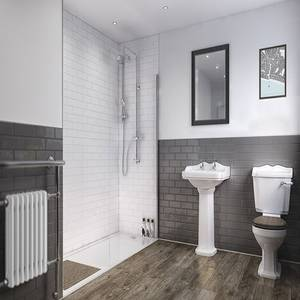 Wetwall White - 1220mm - Shower Panel - Composite