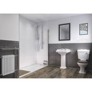Wetwall White 3 Sided Shower Kit - Composite