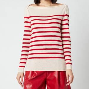 Philosophy di Lorenzo Serafini Women's Stripe Sweater with Logo on Back - Cream