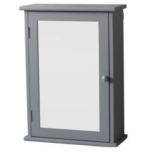 Classic Mirrored Single Door Cabinet - Grey