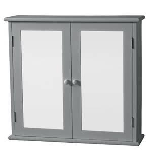 Classic Mirrored Double Door Cabinet - Grey
