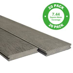 Heritage Composite Decking 20 Pack Driftwood - 7.44 m2