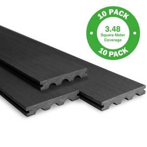 Bridge Board Composite Decking 10 Pack Ebony - 3.48 m2