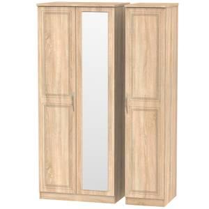 Milton Triple Mirror Wardrobe - Oak