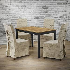 Copenhagen 4 Seater Dining Set - Breton Dining Chairs