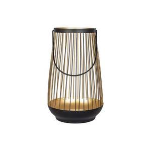 Pioneer 24cm Metal Lantern - Black & Gold