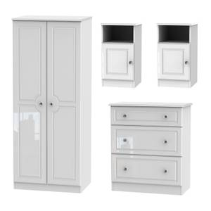 Stonehaven 4 Piece Bedroom Furniture Set - White