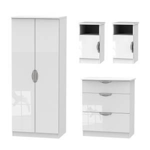 Portofino 4 Piece Bedroom Furniture Set - White
