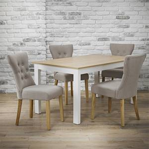 Cotswold 4 Seater Dining Set - Naples Dining Chairs - Cream & Beige