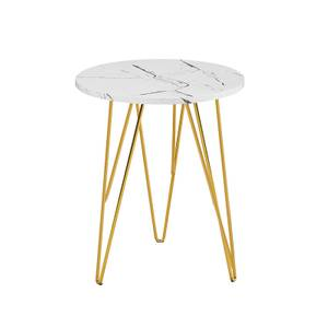 Fusion Lamp Table - White Marble