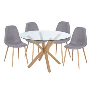 Ludlow 4 Seater Dining Set - Grey