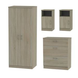 Amalfi 4 Piece Bedroom Furniture Set - Darkolino