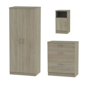 Amalfi 3 Piece Bedroom Furniture Set - Darkolino