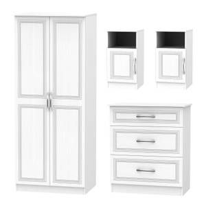 Milton 4 Piece Bedroom Furniture Set - White