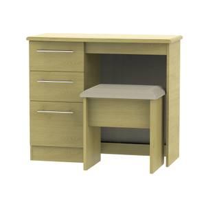 Siena Dressing Table and Stool Set - Modern Oak