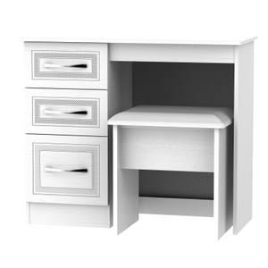 Milton Dressing Table and Stool Set - White
