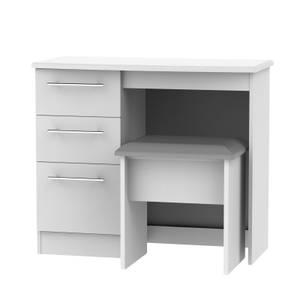 Siena Dressing Table and Stool Set - Grey