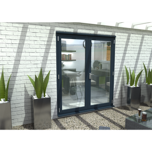 Rohden French Door Set 1800mm - Grey