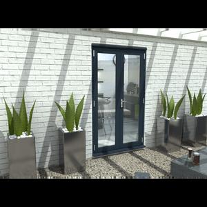 Rohden French Door Set 1200mm - Grey