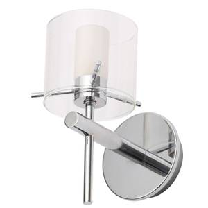 Gene Clear Cyliner Wall Light -  Chrome