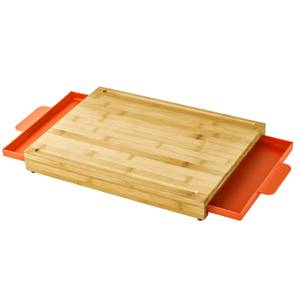 Fervor Bamboo Chopping Board with Slide Out Trays