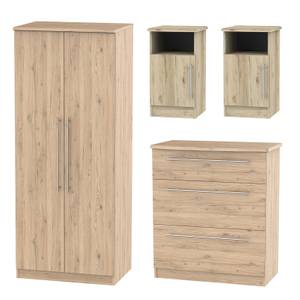Siena 4 Piece Bedroom Furniture Set - Bordeaux Oak