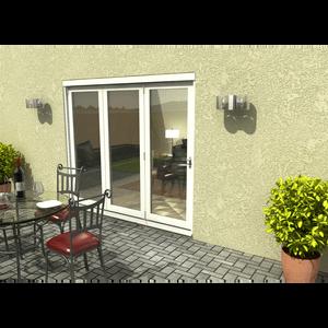 Rohden Slide & Fold Door Set 2400mm - White