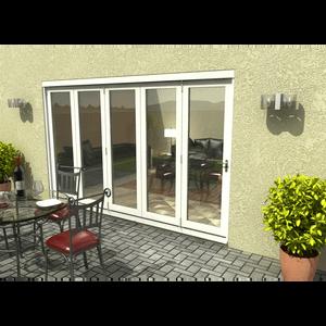 Rohden Slide & Fold Door Set 3600mm - White