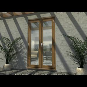 Rohden French Door Set 1200mm - Prefinished Oak