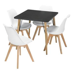 Mercer 4 Seater Dining Set - Louvre Dining Chairs - White