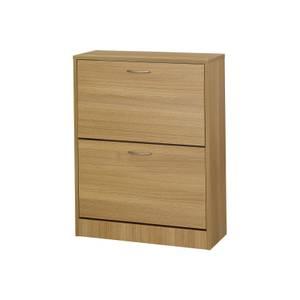 Nova 2 Drawer Shoe Storage - Oak