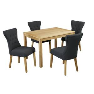 Oakridge 4 Seater Dining Set - Naples Dining Chairs - Grey
