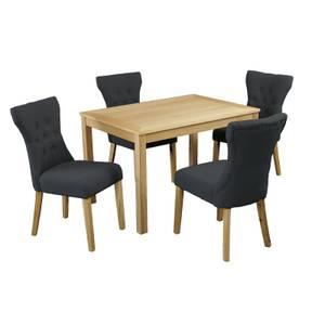 Oakridge 4 Seater Dining Set - Naples Dining Chairs - Grey