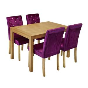 Oakridge 4 Seater Dining Set - Paris Dining Chairs - Purple