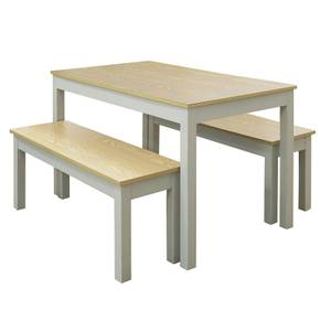 Ohio 4 Seater Dining Set - Grey & Oak