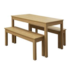 Ohio 4 Seater Dining Set - Oak