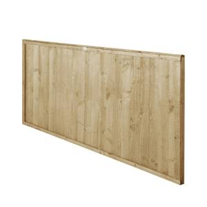 6ft x 3ft (1.83m x 0.91m) Pressure Treated Closeboard Fence Panel - Pack of 5