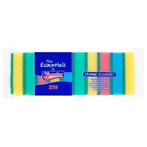 Spontex Essentials Sponge Scourer 10 Pack