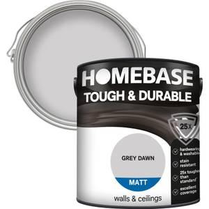 Homebase Tough & Durable Matt Paint - Grey Dawn 2.5L
