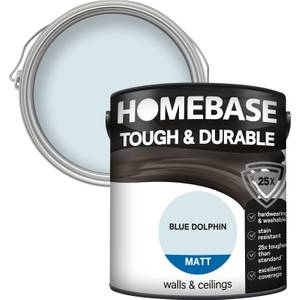 Homebase Tough & Durable Matt Paint - Blue Dolphin 2.5L
